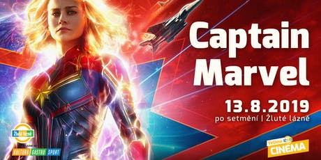 Letní kino Yellow Cinema - Captain Marvel tickets