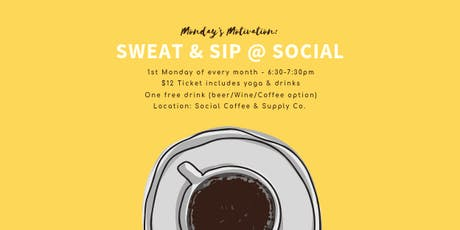 Sweat & Sip at Social Coffee tickets