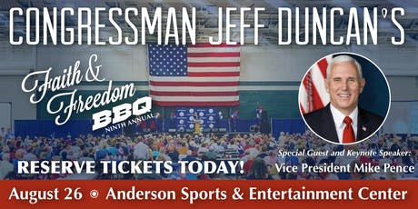 Jeff Duncan's 9th Annual Faith & Freedom BBQ! tickets