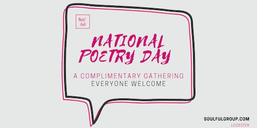 NATIONAL POETRY DAY 2019