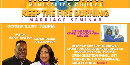 Keep the fire burning marriage seminar