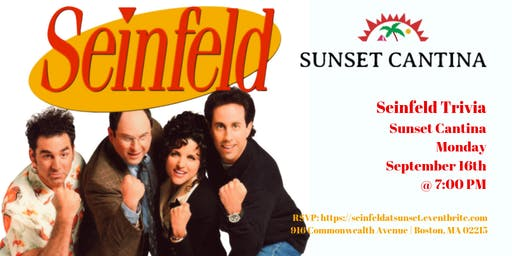 Seinfeld Trivia at Sunset Cantina