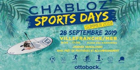 Chabloz' Sports Days - Summer 2019 Villefranche-sur-Mer tickets