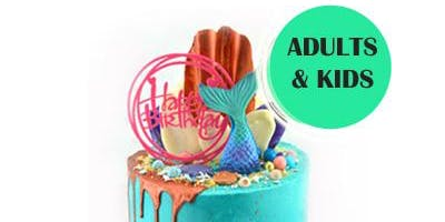 Mermaid Drip Cake Class - 5 Oct 2019 SCHOOL HOLIDAY by Cakewaves