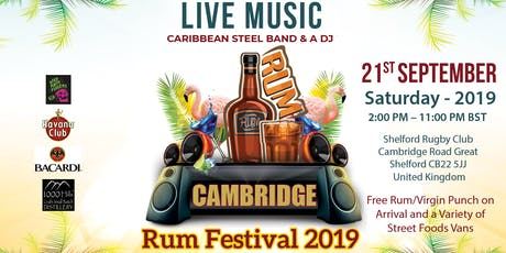 Cambridge's First Rum Festival  2019 Edition- Fun for the whole FAMILY tickets
