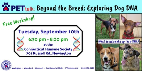 PETtalk - Beyond the Breed: Exploring Dog DNA tickets