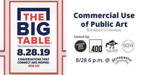 Big Table (High Top) Commercial Use of Public Art & its Future in Columbus