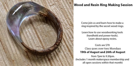 RESIN and WOOD RING/JEWELRY CLASS