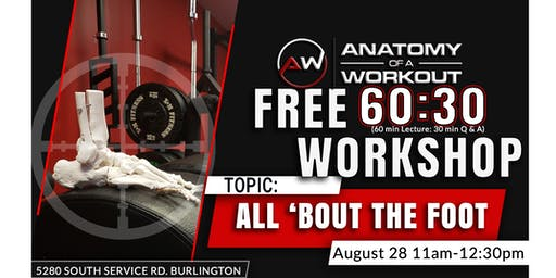 Anatomy of a Workout: FREE Foot Workshop