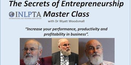 The Secrets of Entrepreneurship Masterclass tickets