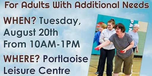 Camp for adults with additional needs 20th Aug 2019