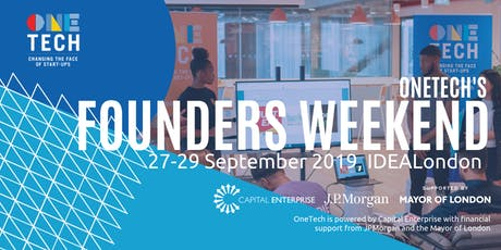 OneTech's second Founders Weekend - come with an idea and leave with a business (18-24 year olds) tickets