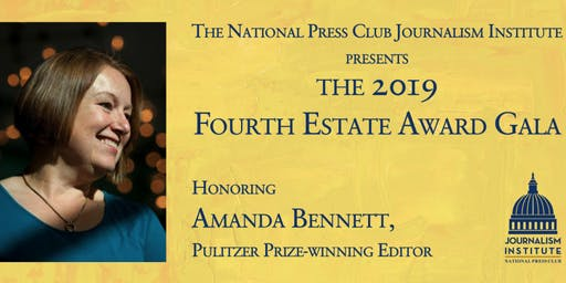 2019 Fourth Estate Award Gala honoring Amanda Bennett, Pulitzer Prize Winning Editor