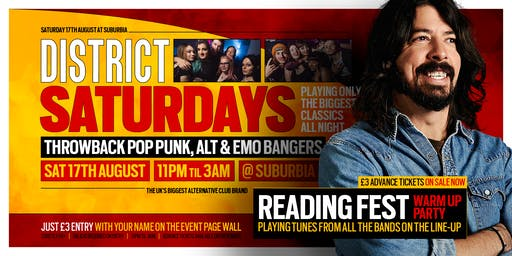 DISTRICT Southampton // Reading Festival Warm Up Party // Saturday Night