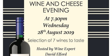 Wine and Cheese Evening hosted by wine expert David Elford of Harp Wines and Spirits tickets