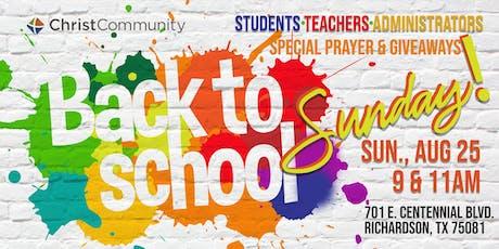 BACK-TO-SCHOOL SUNDAY tickets