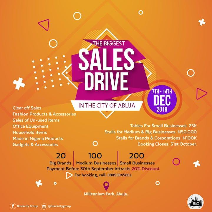 ABUJA SALES DRIVE Tickets, Sat, Dec 7, 2019 at 12:00 PM