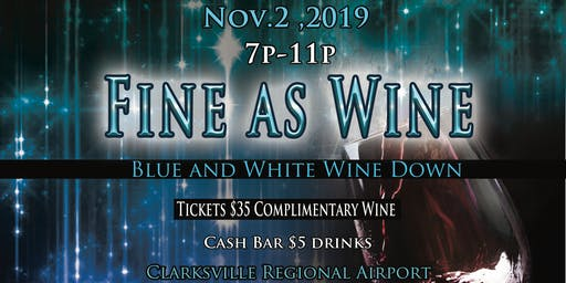 Fine As Wine: Blue and White Wine Down