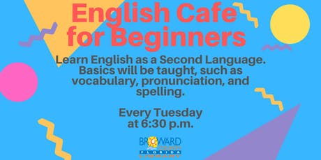 English Cafe — For Beginners of English as a Second Language tickets