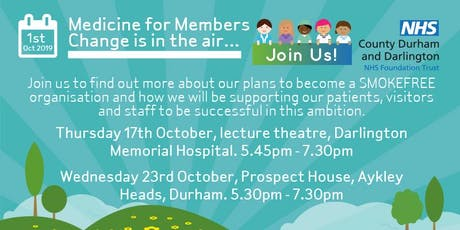 Medicine for Members: Change is in the air #SmokeFreeCDDFT tickets