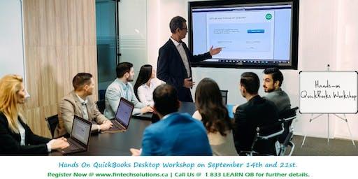 QuickBooks Desktop Hands-On Workshop Toronto   Mississauga - September 14th and 21st  2019