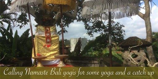 A taste of 'Namaste Bali'- yoga and catch up