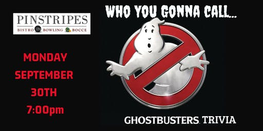 Ghostbusters Trivia at Pinstripes Oak Brook