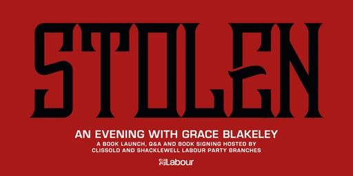Stolen: an evening with Grace Blakeley (book launch, Q&A and book signing)