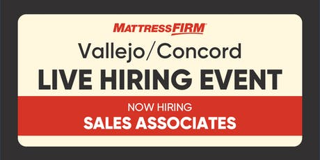 Vallejo/Concord - On-the-Spot Interviews tickets