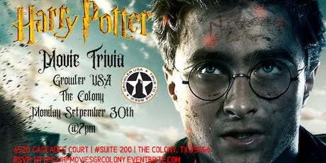 Harry Potter Movie Trivia at Growler USA The Colony tickets