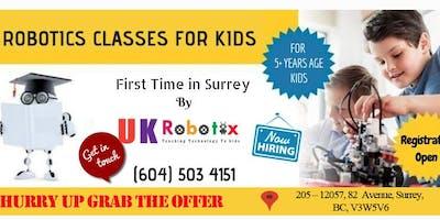 Robotics Classes for kids in Surrey BC-STEM , Coding, Drone, 3D Printing