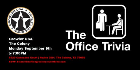 The Office Trivia at Growler USA The Colony tickets