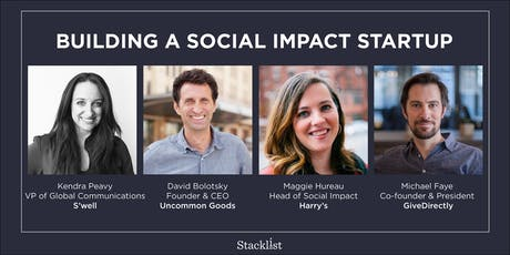Building a Social Impact Startup tickets