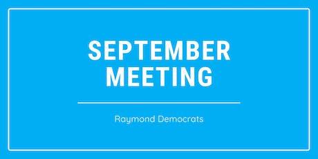 September Meeting: Raymond Democrats tickets