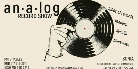 ANALOG Record Show  tickets