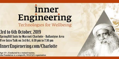 Inner Engineering Total in Charlotte - 3-6th Oct 2019 tickets