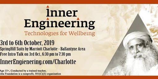 Inner Engineering Total in Charlotte - 3-6th Oct 2019