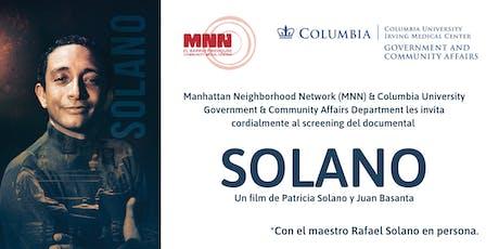 Solano, el documental. tickets