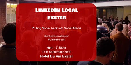 LinkedInLocal Exeter Hotel Du Vin tickets