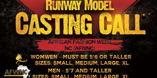 Model Casting Call for the 2019 African Fashion Week NC