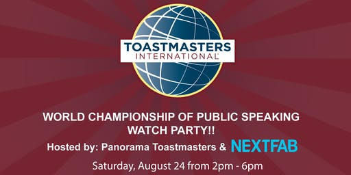 World Championship of Public Speaking Watch Party at NextFab