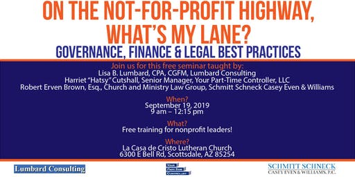 Governance, Financial, & Legal Best Practices Seminar