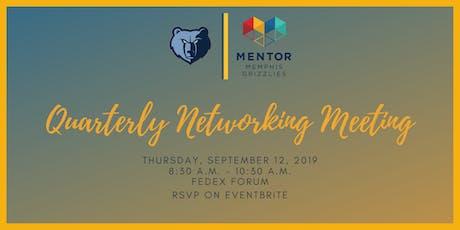 MENTOR Memphis Grizzlies September 2019 Quarterly Meeting tickets