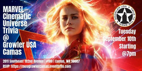Marvel Cinematic Universe Trivia at Growler USA Camas tickets