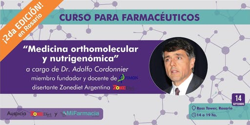 Medicina orthomolecular y nutrigenómica a cargo del Dr. Adolfo Cordonnier