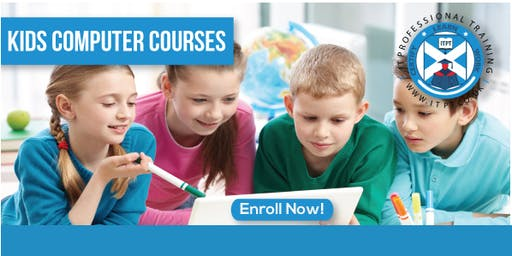 Kids Computer Course- MS Office Pro Course (Age: 10-13) @Glasgow