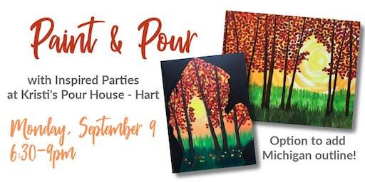 Paint & Pour at Kristi's Pour House