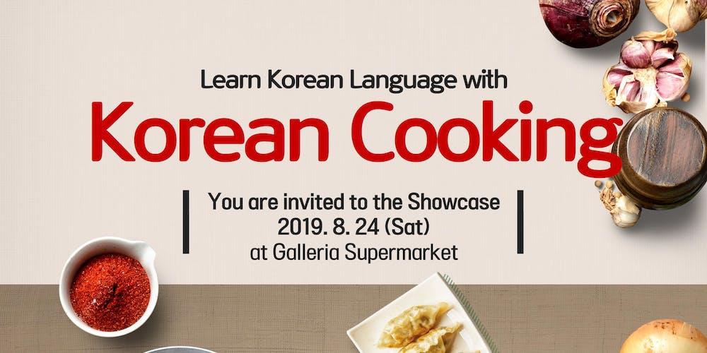 Learn Korean with Korean Cooking Showcase-Oakville Tickets, Sat, Aug