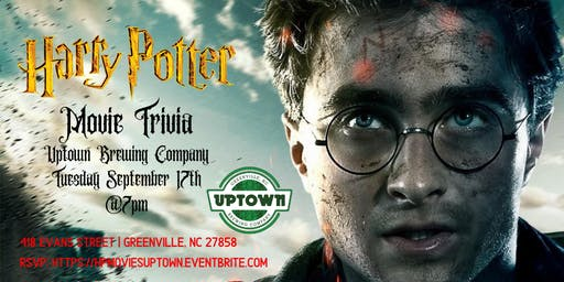 Harry Potter Movie Trivia at Uptown Brewing Company