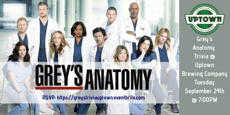 Grey's Anatomy Trivia at Uptown Brewing Company tickets